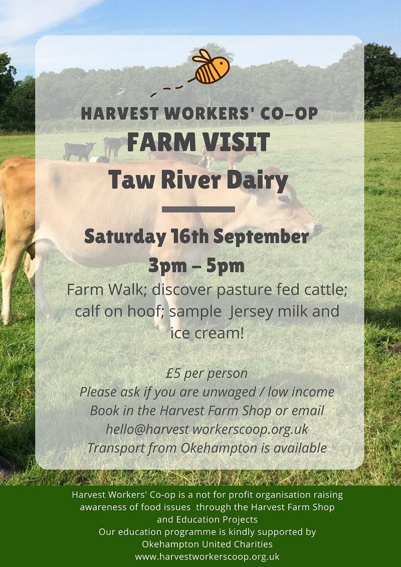 Taw River Dairy Visit - full price 16/9/17