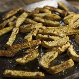 Indian Spiced Celeriac Chips